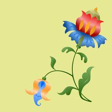 Stylized Flowers. Stock Images