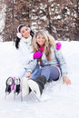 Free Girls Ice Skating Stock Photo - 18524280