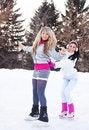Free Girls Ice Skating Stock Photography - 18524382