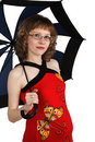 Free A Pregnant Woman With An Umbrella Royalty Free Stock Photography - 18524747