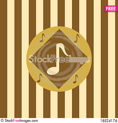 Cute musical background Stock Photo