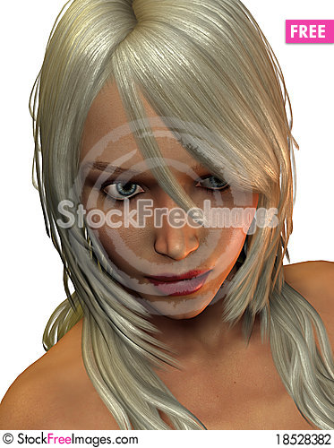 Portrait young woman with blonde hair Stock Photo