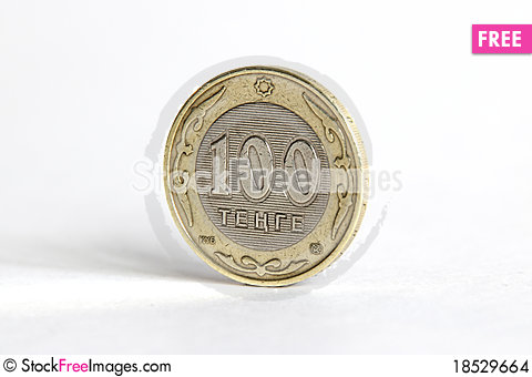Tenge stands on the edge Stock Photo