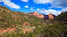 Free Kolob Canyons Panorama Royalty Free Stock Photography - 18520737