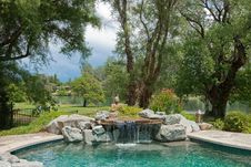 Free Pool Waterfall Royalty Free Stock Images - 18520749