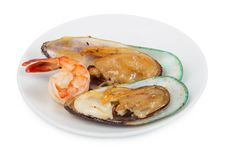 Free Shrimps, Mussels Stock Photos - 18520803