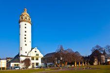 Free Famous Medieval Hoechster Schlossturm In Frankfurt Stock Photo - 18521080