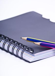 Notebook With Pencils