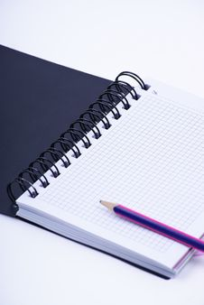 Free Notebook With Pencil Stock Photo - 18521190