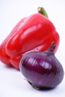 Free Pepper And Onion Royalty Free Stock Images - 18521199