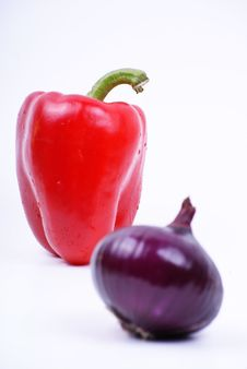 Free Pepper And Onion Stock Photography - 18521202
