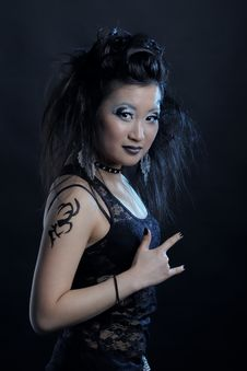 Free Gothic Asian Girl Stock Photo - 18521240