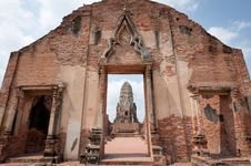 Free Wat Rajaburana, Ayutthaya Royalty Free Stock Photos - 18521308