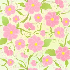 Free Cute Floral Seamless Background Royalty Free Stock Image - 18521576