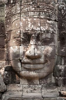 Face Of Angkor Thom, Bayon Royalty Free Stock Image