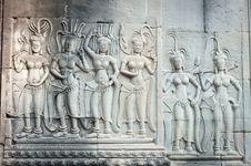 Free Apsara Carvings In Angkor Royalty Free Stock Photo - 18521705