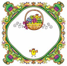 Easter Frame Stock Images