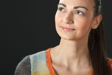 Free Portrait Of Young Female In Sweater Royalty Free Stock Photography - 18522047