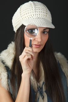 Looking Through The Loup Stock Image