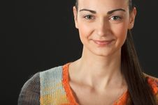 Free Portrait Of Young Female In Sweater Stock Photos - 18522323