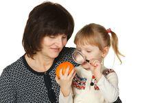 Free Studying The Orange Fruit Stock Image - 18522621