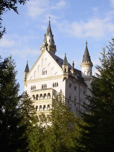 Neuschwanstein Castle In Germany. Royalty Free Stock Photography
