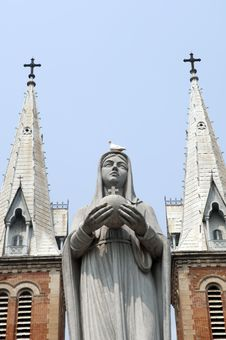 Free Saigon Vietnam Notre Dame Cathedral Stock Image - 18523061