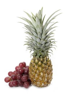 Free Pineapple And Grape Stock Image - 18523071