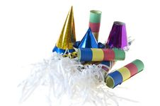 Free Colorful Hats, Horns And Streamers Stars Stock Image - 18523191