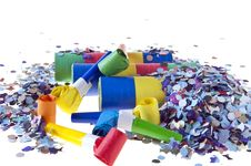 Free Trumpets, Confetti And Streamers Stars Royalty Free Stock Images - 18523379