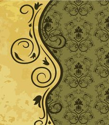 Free Vintage Background With Floral Pattern Stock Images - 18523534