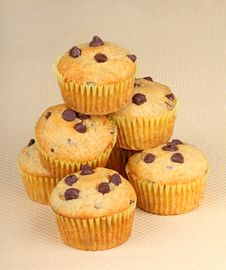 Free Chocolate Chip Muffins Royalty Free Stock Images - 18523919