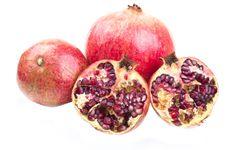 Free Three Ripe And Red Pomegranates Stock Image - 18523961