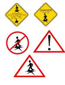 Danger.. Thin Ice.. Royalty Free Stock Image