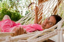 Free Young  Woman In Hammock Stock Images - 18524354