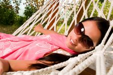 Free Young Woman In Hammock Stock Photos - 18524373