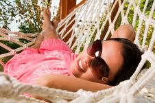 Free Young Woman In Hammock Royalty Free Stock Images - 18524379