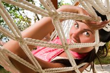 Free Young Woman In Hammock Stock Image - 18524381