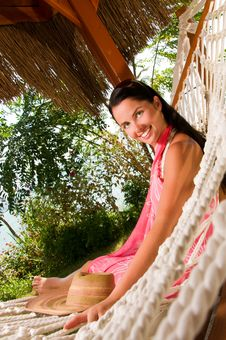 Free Young Woman In Hammock Stock Photo - 18524390
