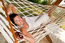 Free Young Woman In Hammock Royalty Free Stock Photo - 18524405