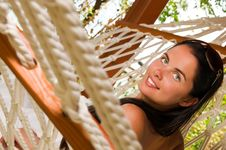 Free Young Woman In Hammock Stock Photo - 18524440
