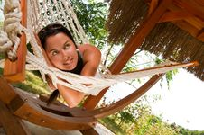Free Young Woman In Hammock Stock Image - 18524451