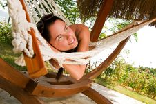 Free Young Woman In Hammock Stock Images - 18524454