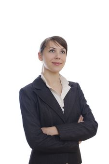 Business Woman With Crossed Hands Stock Photos