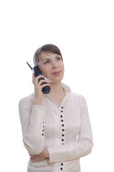 Free Business Woman With A Telephone Stock Photo - 18525170
