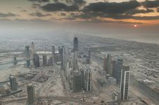 Free View Over Dubai Royalty Free Stock Photo - 18525345