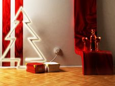 Free Christmas Interior Royalty Free Stock Photos - 18526388