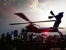 Free Helicopter Over City Royalty Free Stock Photography - 18526457