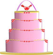 Free Pink Cake Stock Image - 18526481