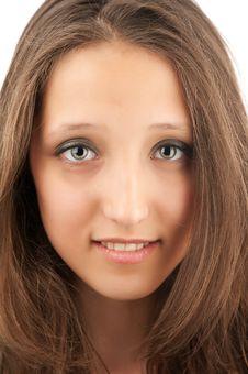 Happy Beautiful Young Girl Stock Image